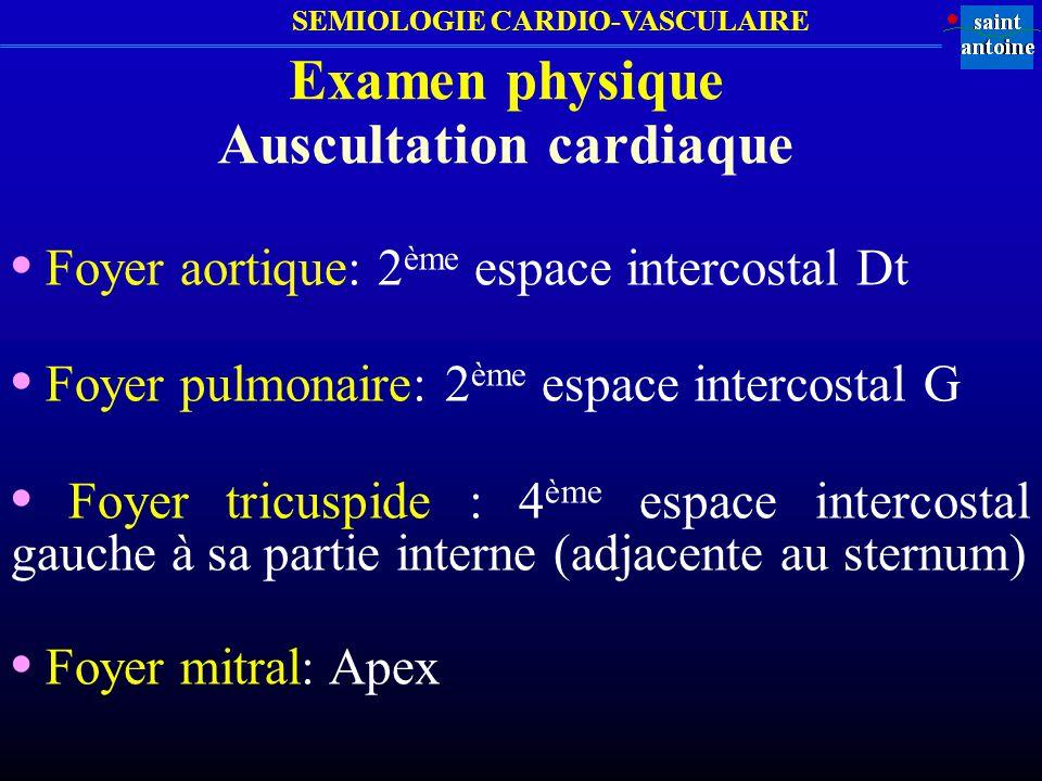 Auscultation cardiaque