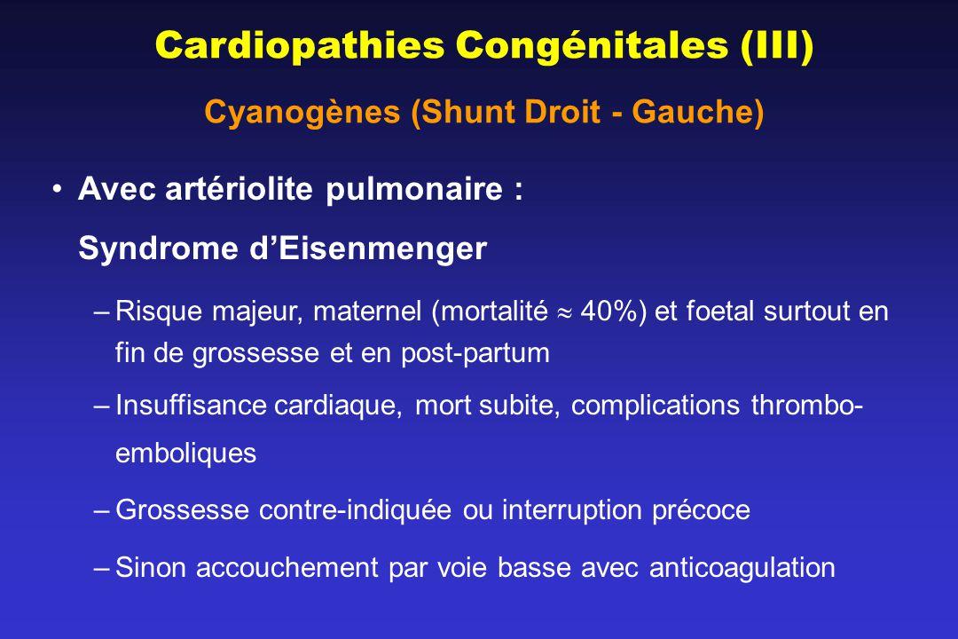 Cyanogènes (Shunt Droit - Gauche)