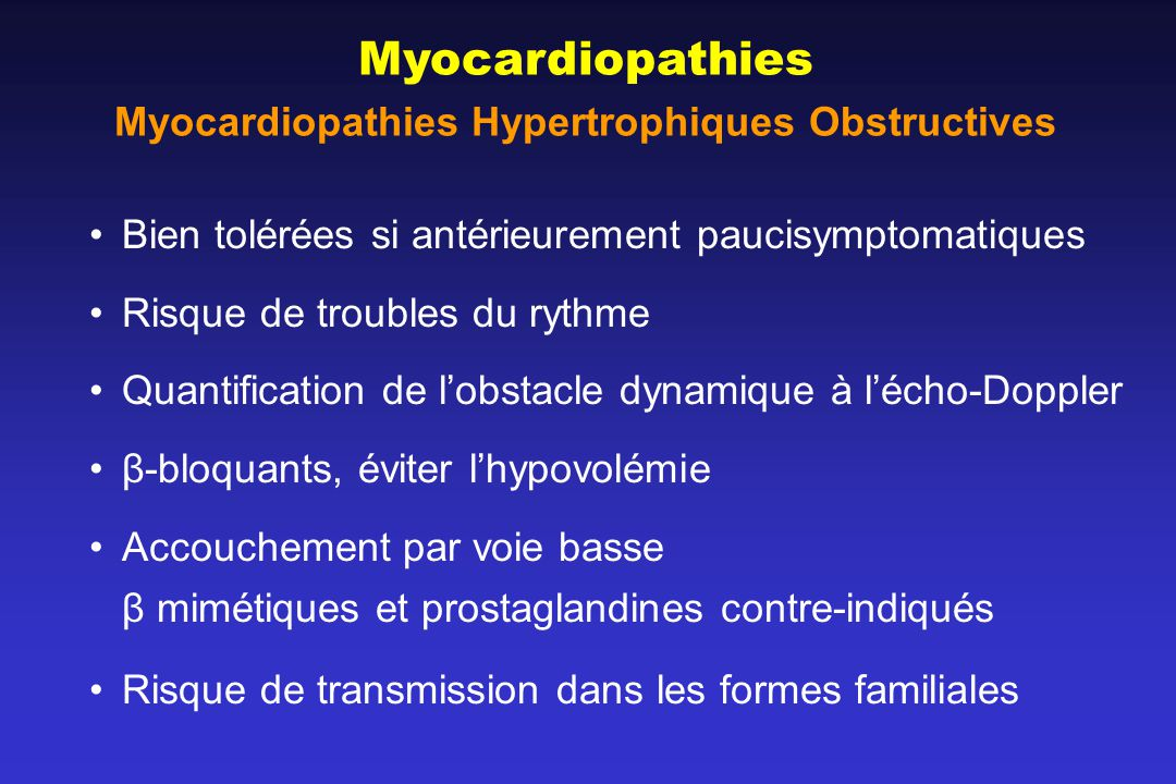 Myocardiopathies Hypertrophiques Obstructives