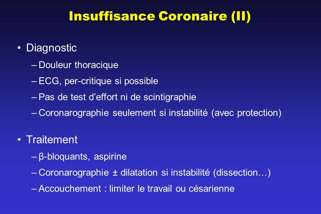 Insuffisance Coronaire (II)