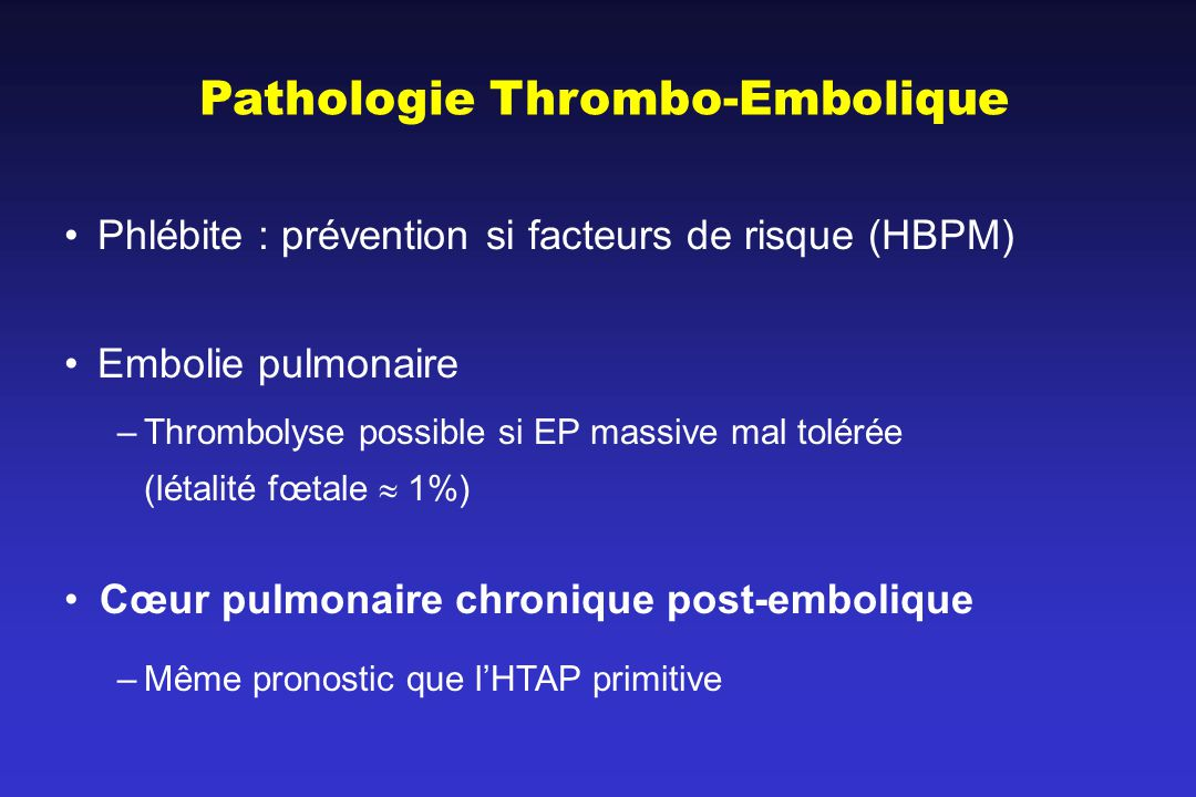 Pathologie Thrombo-Embolique