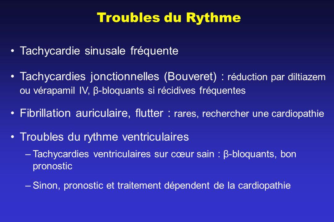 Troubles du Rythme Tachycardie sinusale fréquente