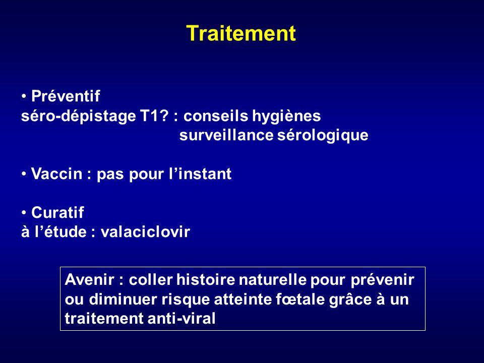 Traitement Préventif séro-dépistage T1 : conseils hygiènes
