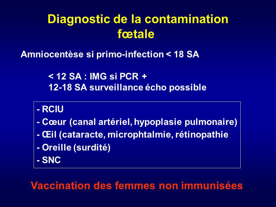 Diagnostic de la contamination