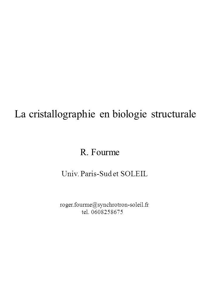 La cristallographie en biologie structurale