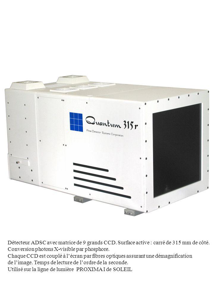 Détecteur ADSC avec matrice de 9 grands CCD