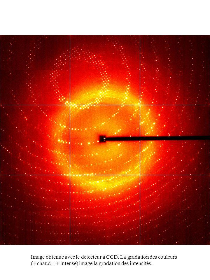 Image obtenue avec le détecteur à CCD. La gradation des couleurs