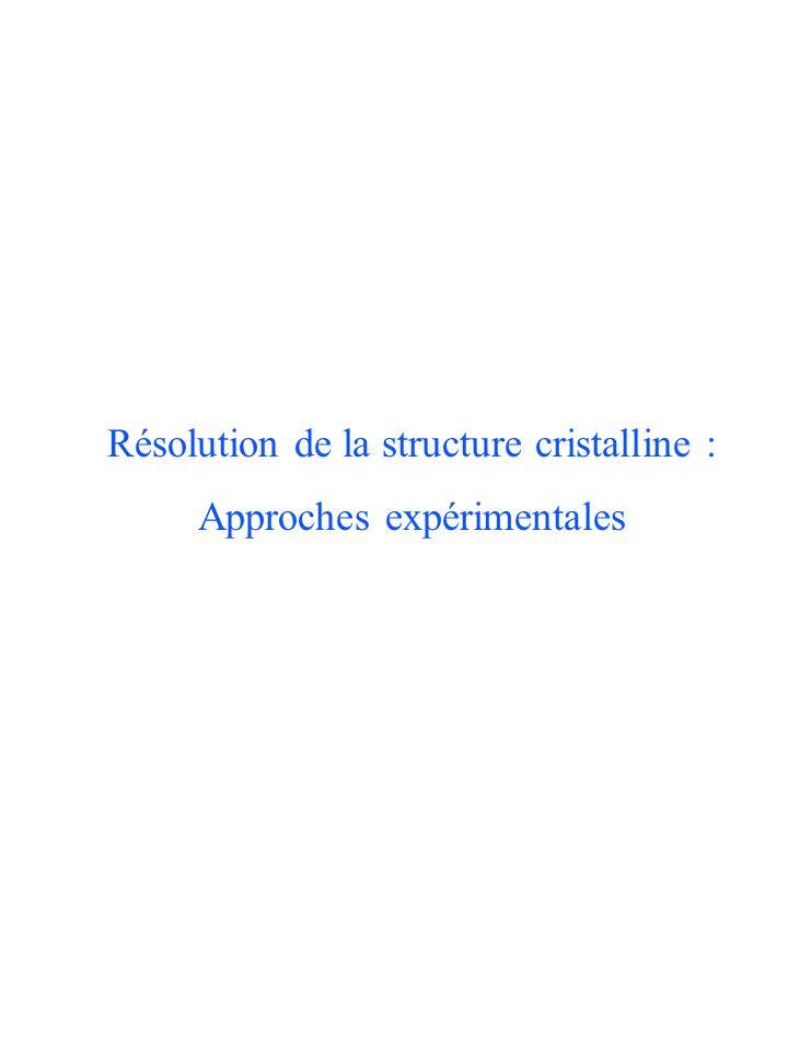 Résolution de la structure cristalline : Approches expérimentales