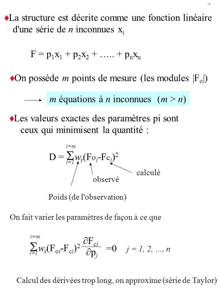 Swr(Foi-Fci)2 La structure est décrite comme une fonction linéaire