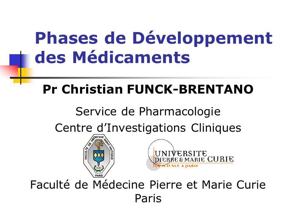 Phases de Développement des Médicaments