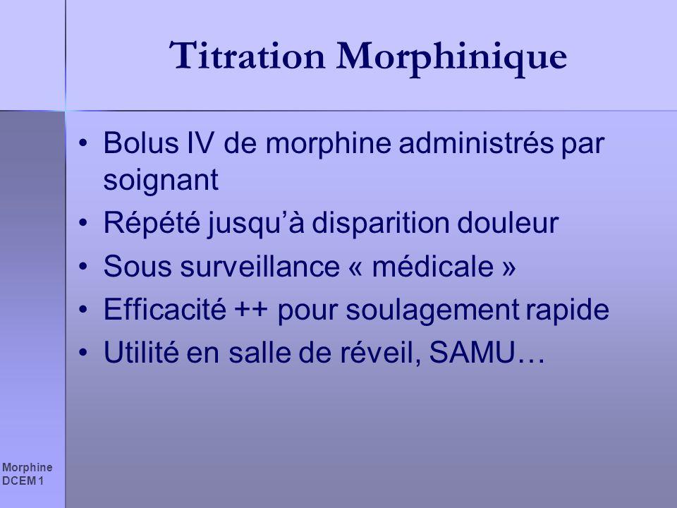 Titration Morphinique