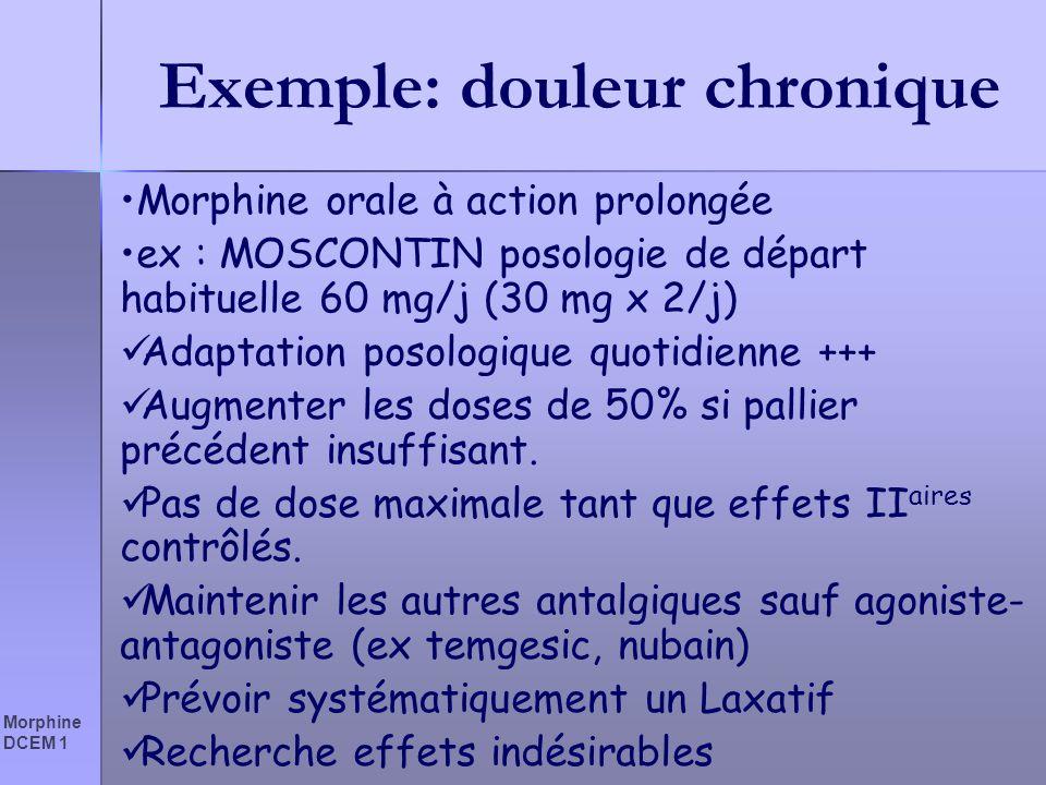 Exemple: douleur chronique