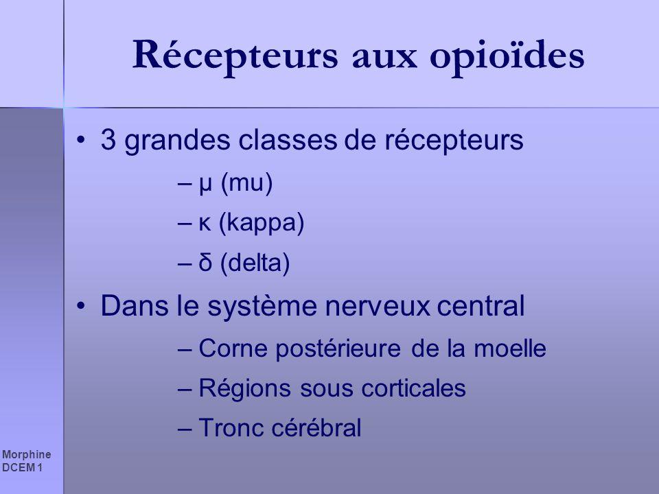 Récepteurs aux opioïdes