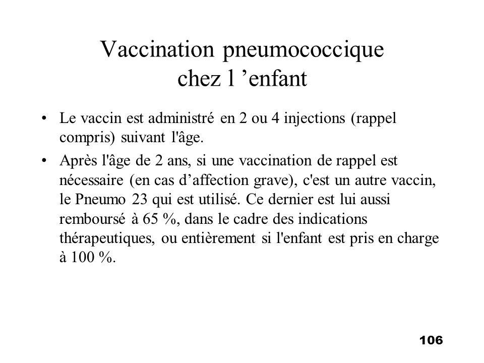Vaccination pneumococcique chez l 'enfant