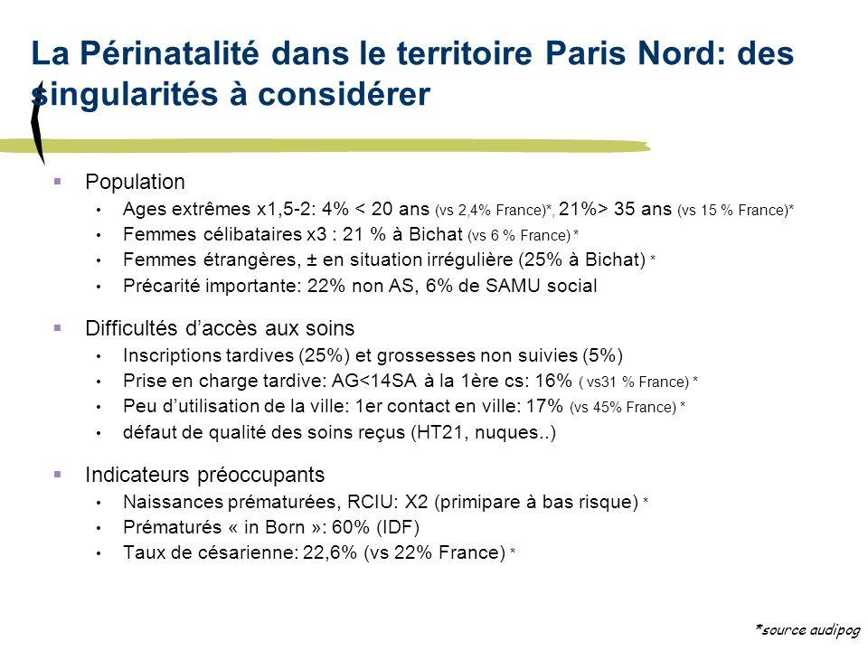 La Périnatalité dans le territoire Paris Nord: des singularités à considérer
