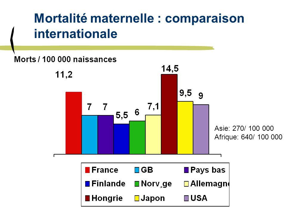 Mortalité maternelle : comparaison internationale