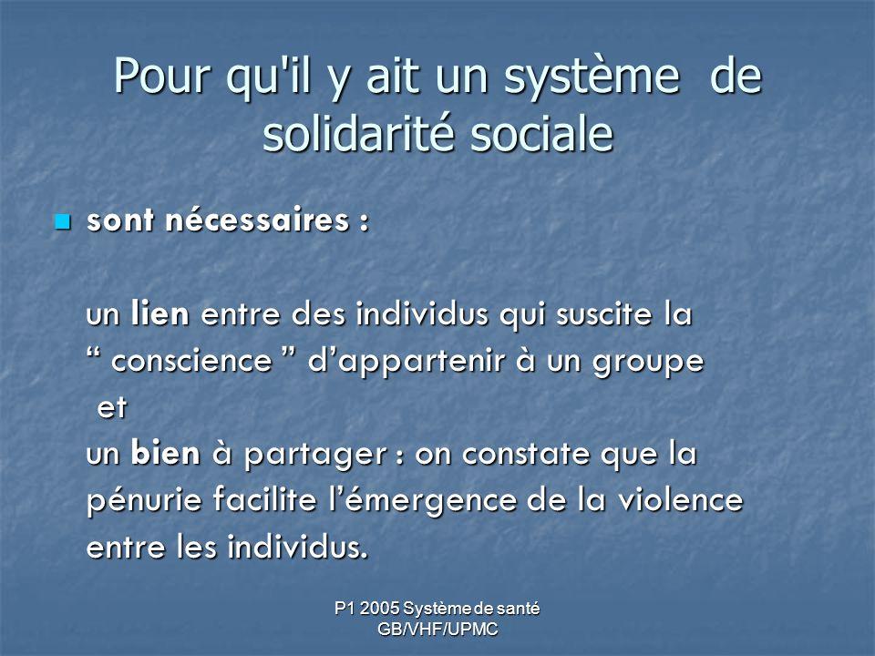 Pour qu il y ait un système de solidarité sociale