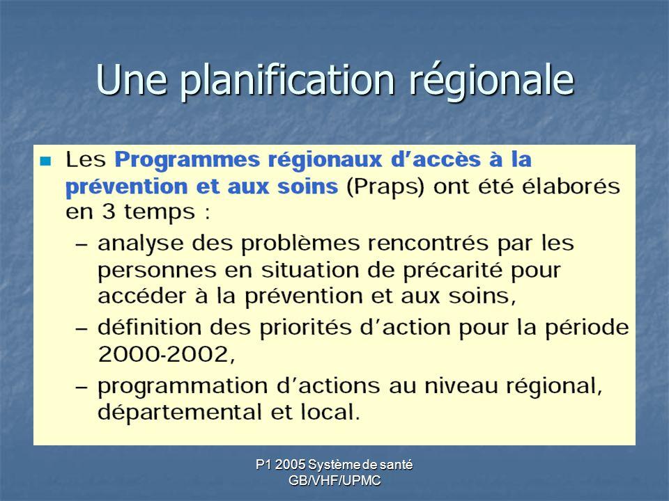 Une planification régionale