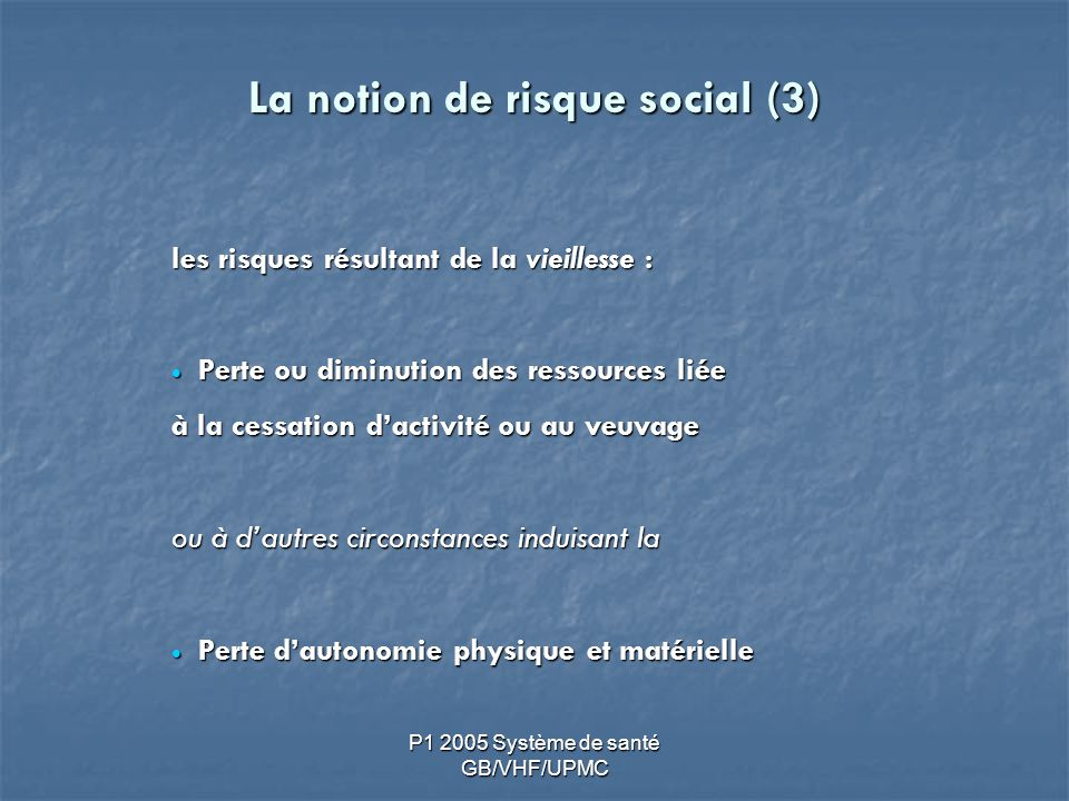 La notion de risque social (3)