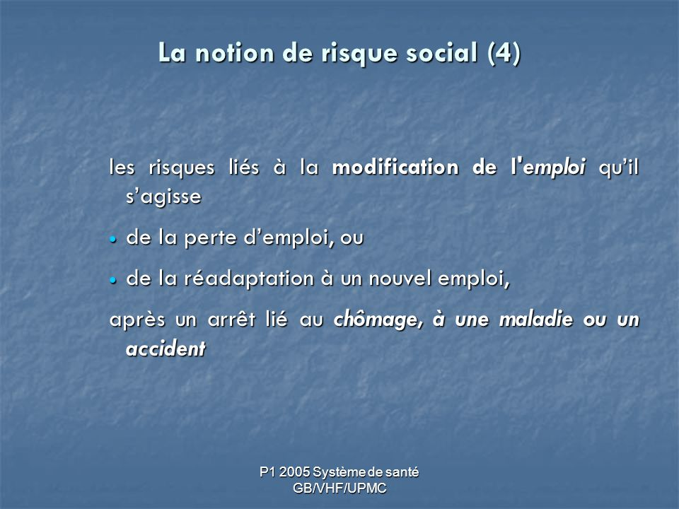 La notion de risque social (4)