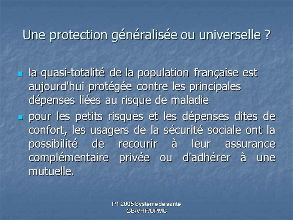 Une protection généralisée ou universelle