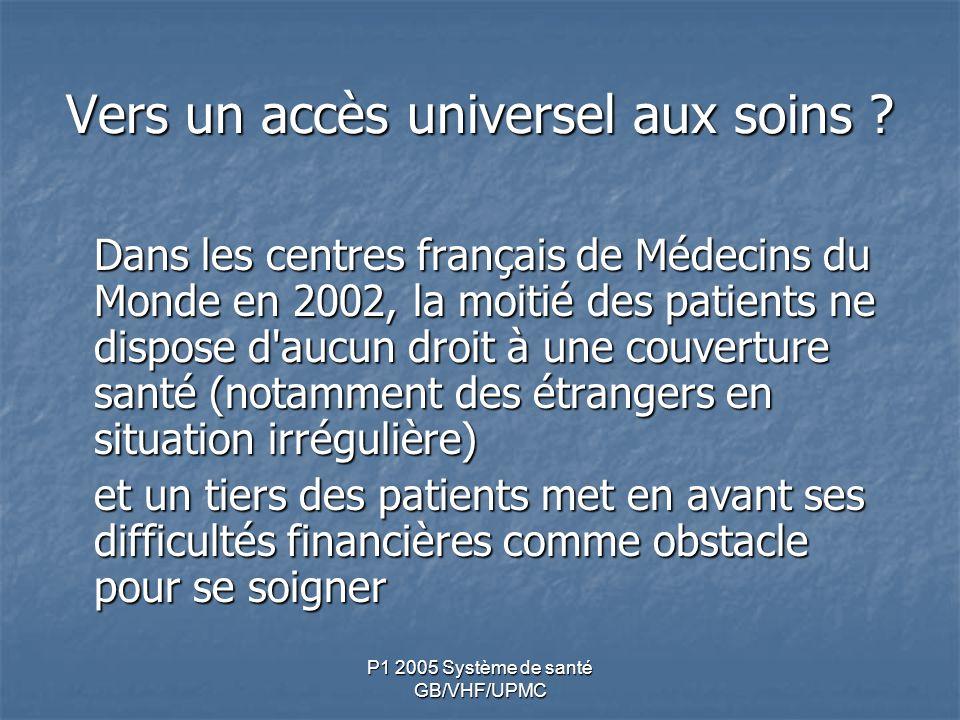 Vers un accès universel aux soins