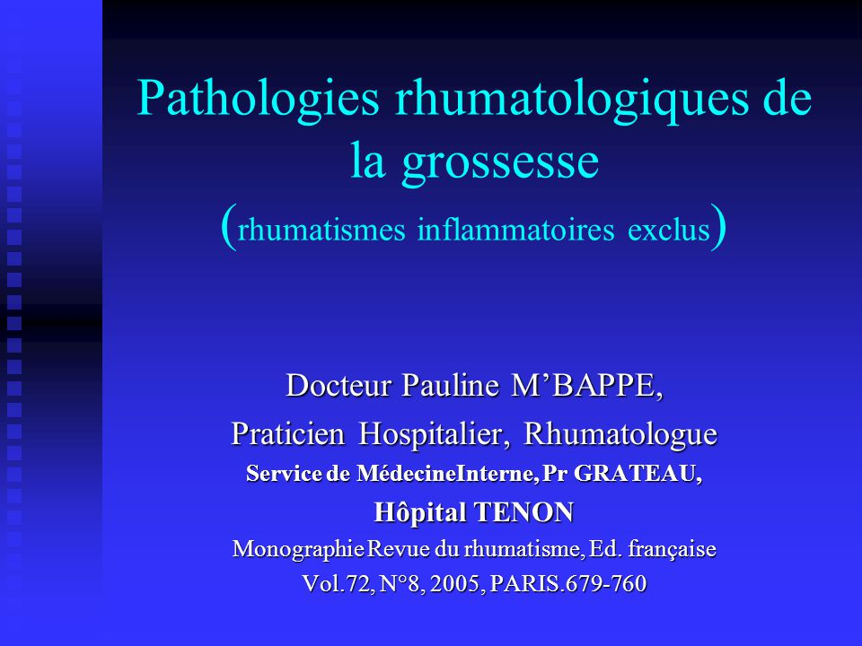 Service de MédecineInterne, Pr GRATEAU,