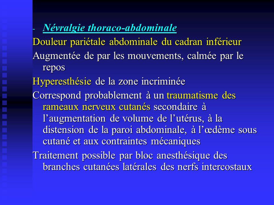Névralgie thoraco-abdominale