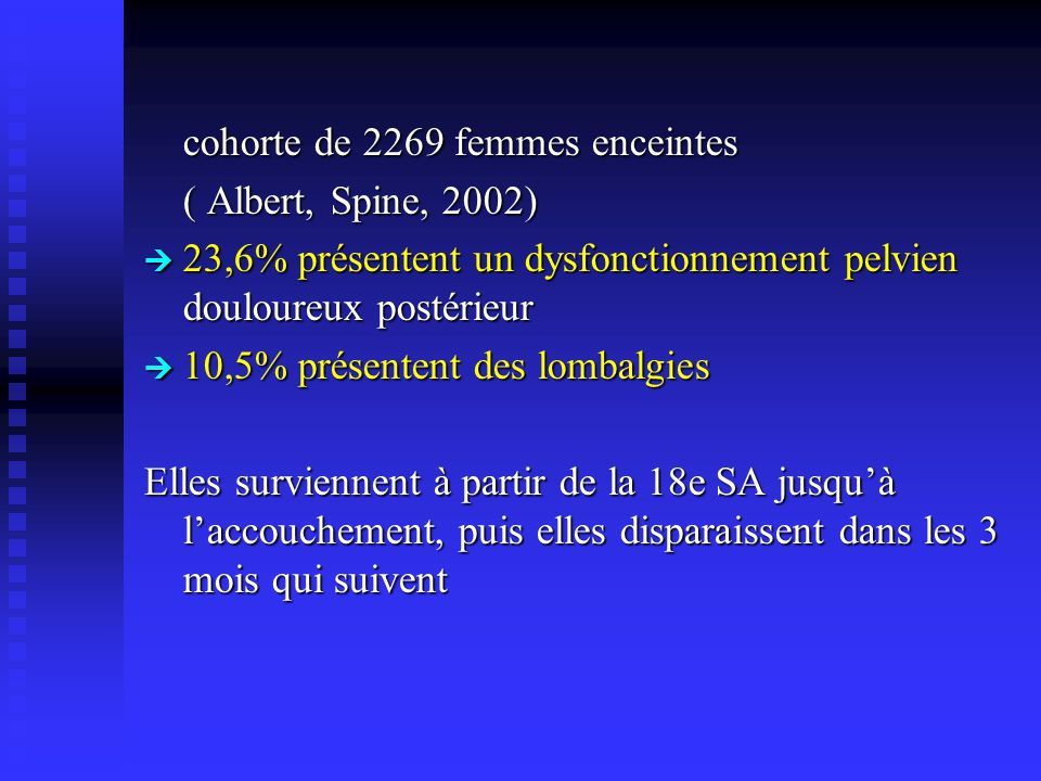 cohorte de 2269 femmes enceintes