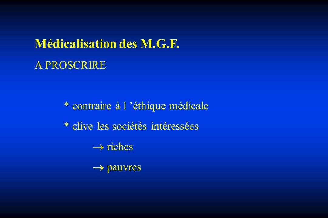 Médicalisation des M.G.F.