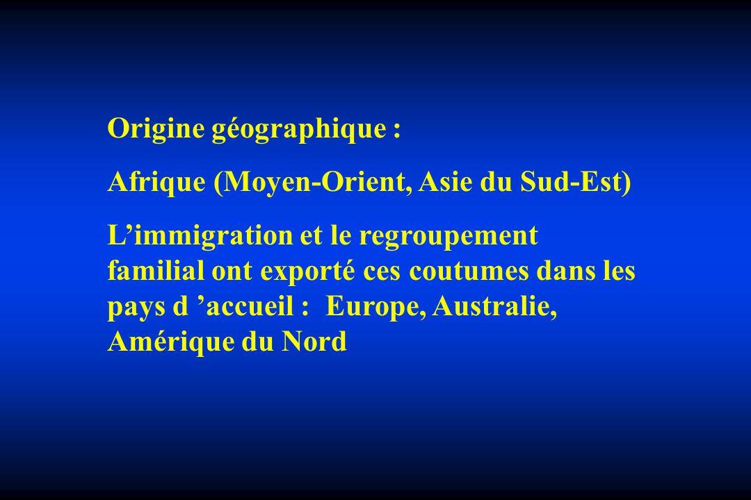 Origine géographique :