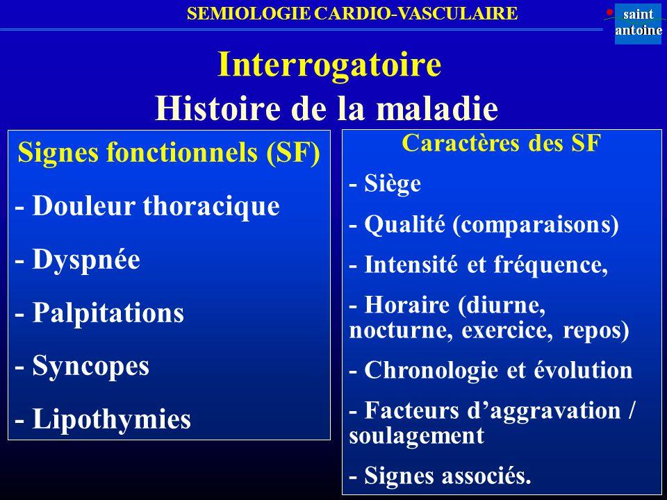 Signes fonctionnels (SF)