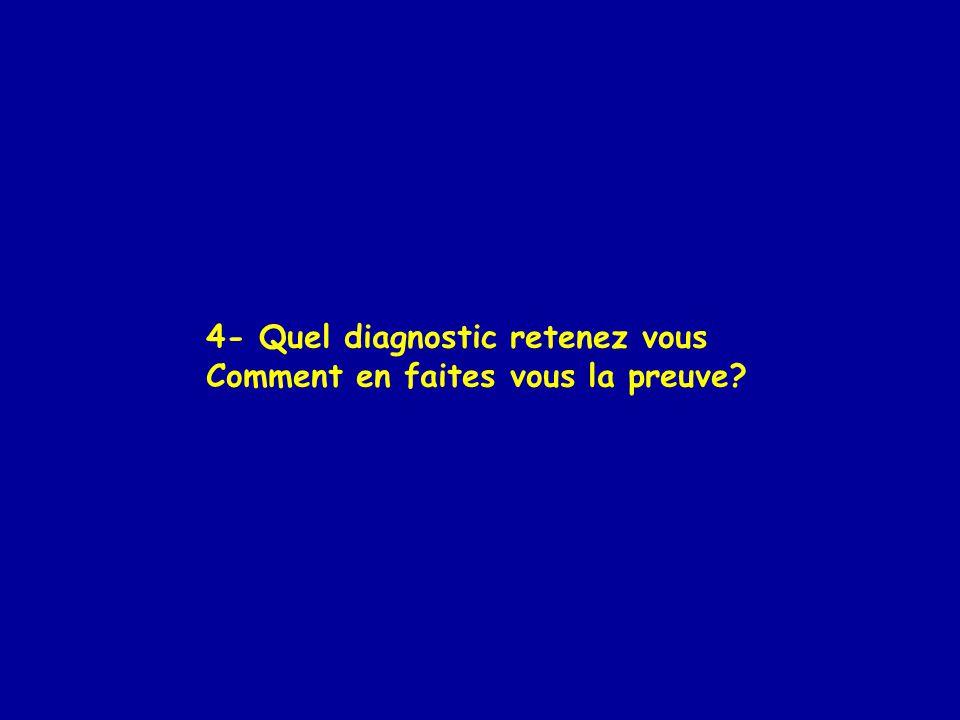 4- Quel diagnostic retenez vous