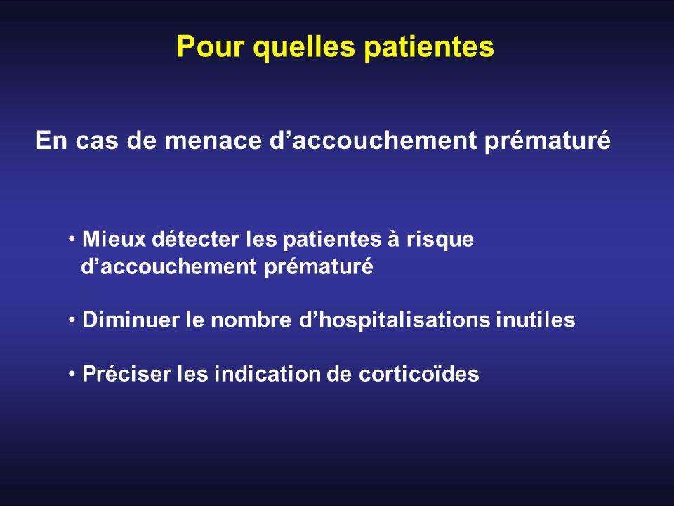 Pour quelles patientes