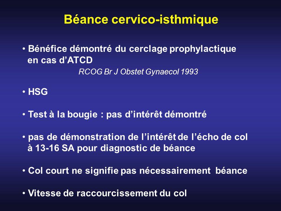 Béance cervico-isthmique