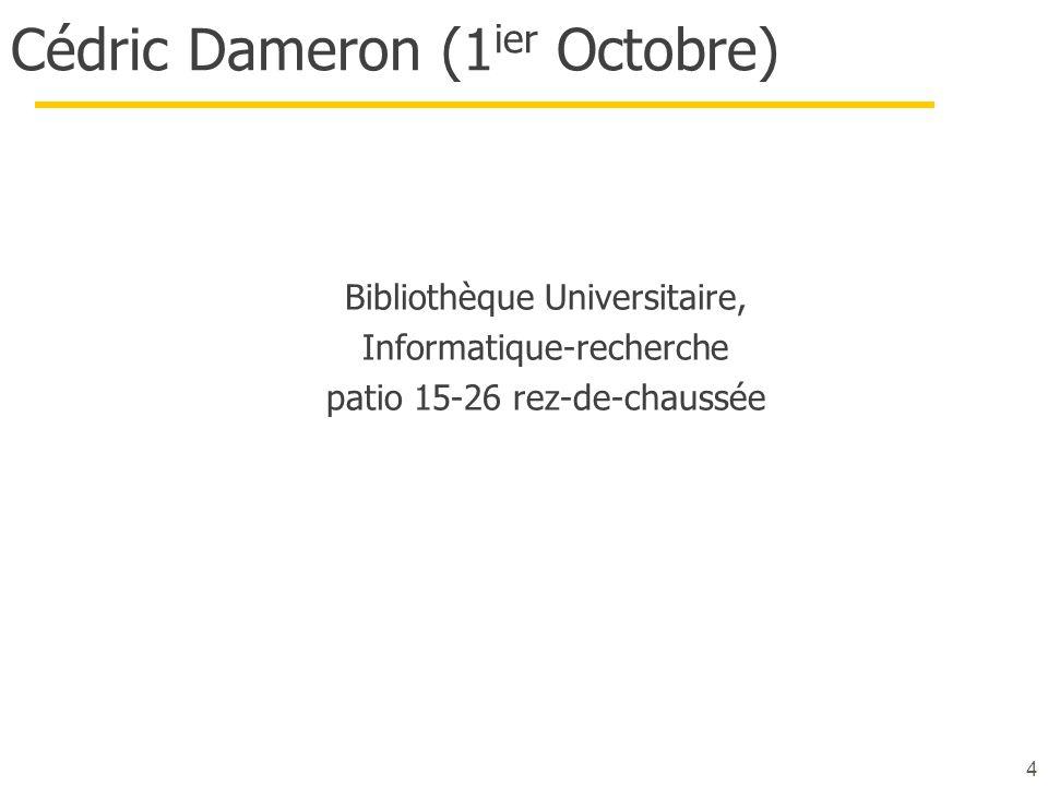 Cédric Dameron (1ier Octobre)