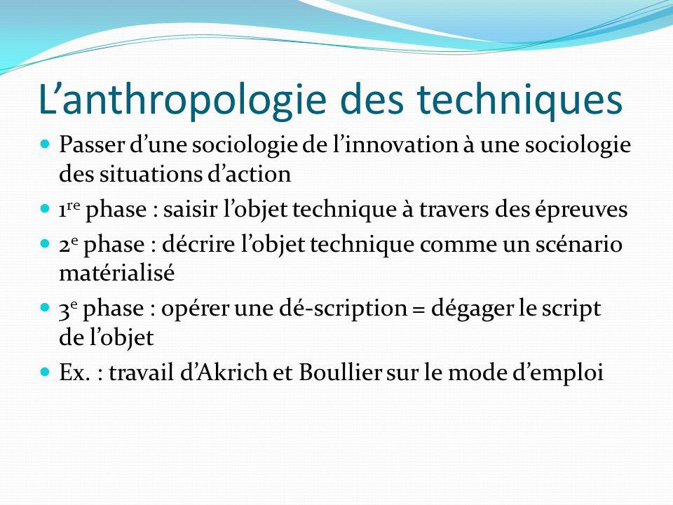 L'anthropologie des techniques