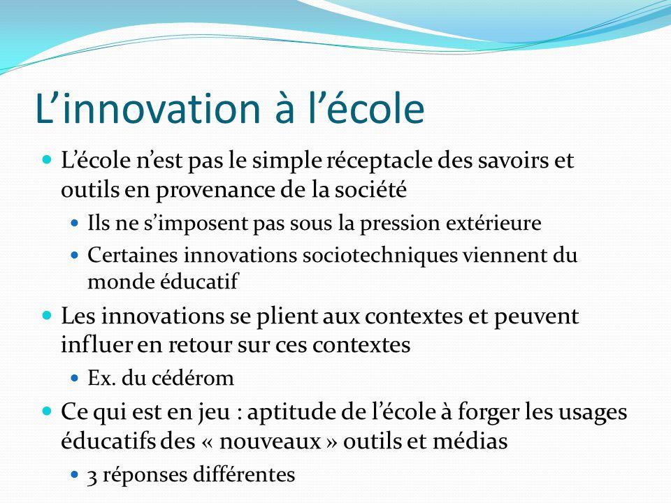 L'innovation à l'école
