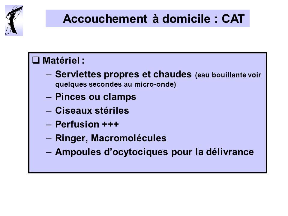 Accouchement à domicile : CAT
