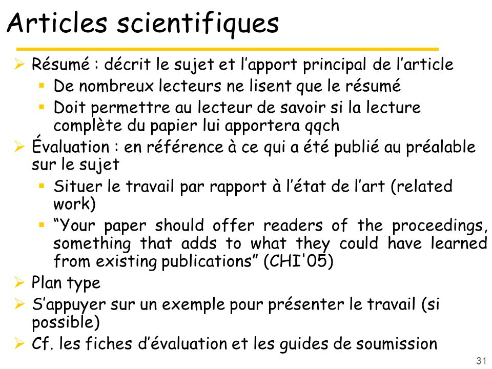 Articles scientifiques