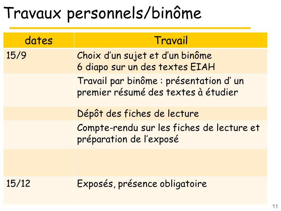 Travaux personnels/binôme