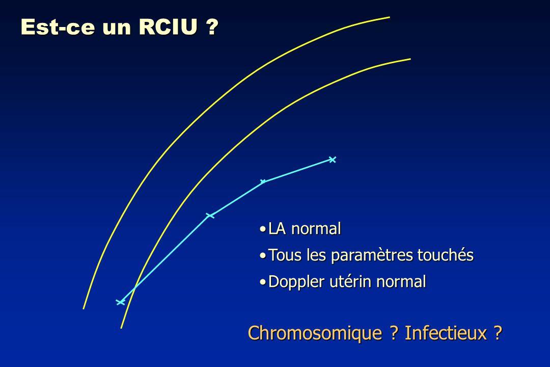 Est-ce un RCIU Chromosomique Infectieux LA normal