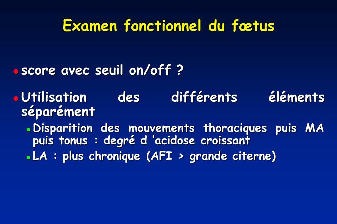 Examen fonctionnel du fœtus