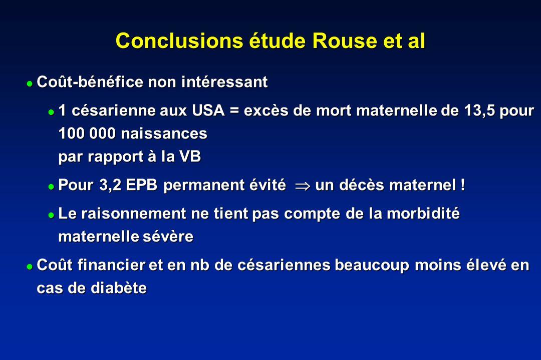 Conclusions étude Rouse et al