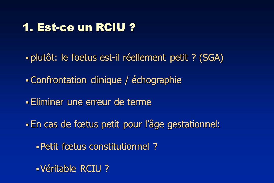 1. Est-ce un RCIU plutôt: le foetus est-il réellement petit (SGA)