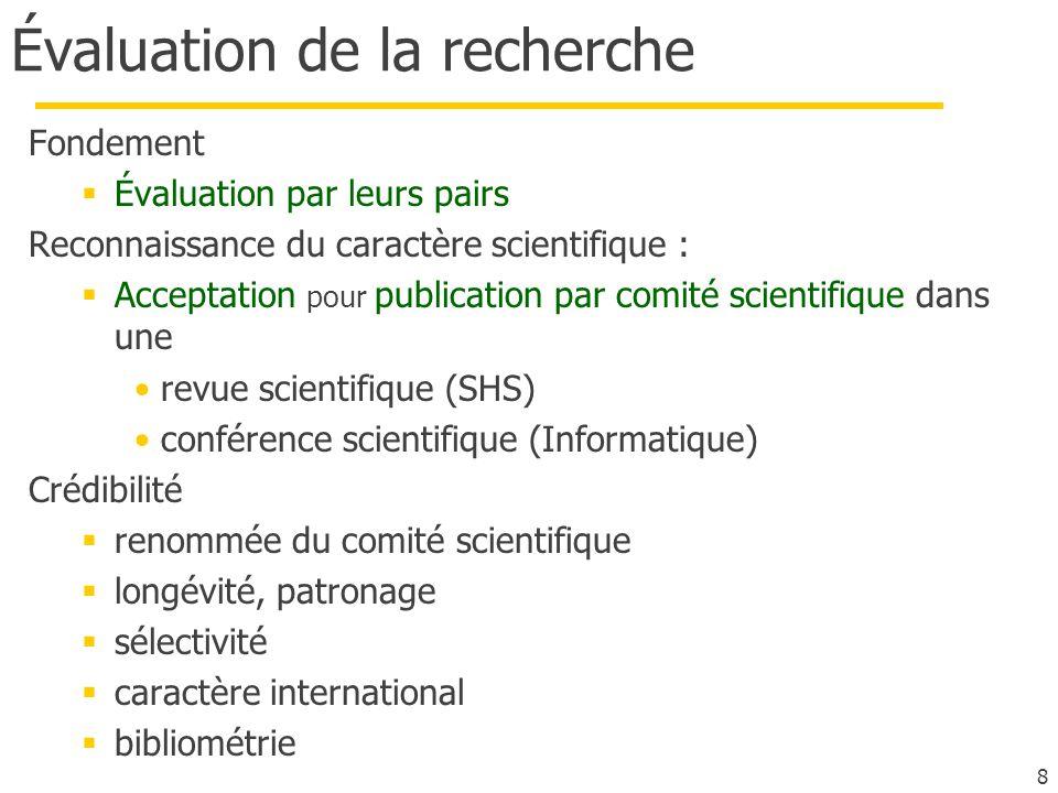 Évaluation de la recherche