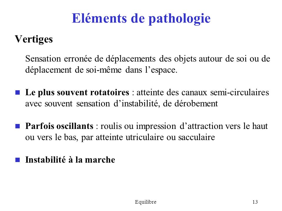 Eléments de pathologie