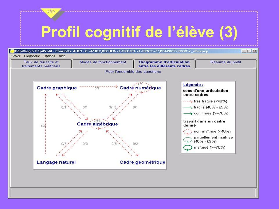Profil cognitif de l'élève (3)