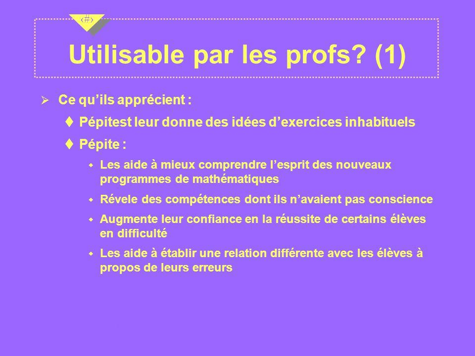 Utilisable par les profs (1)