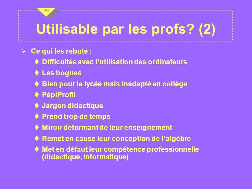 Utilisable par les profs (2)